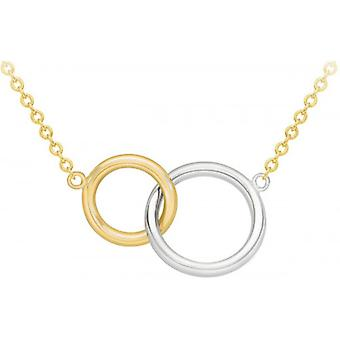 IBB London Linked Rings Adjustable Necklace - Yellow Gold/Silver
