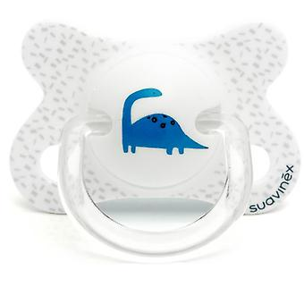 Suavinex White Dino Physiological Fusion Pacifier 2 a 4 Months