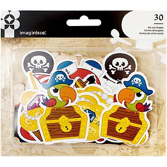 Par-r-rty Me Hearty Ephemera Die-Cuts 30/Pkg-Cardstock Pirate