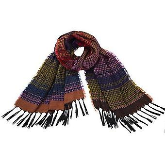 Fashionable wool scarf with fringe heine colorful