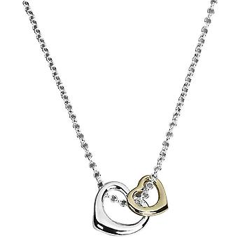 Orton West 2-Tone Double Heart Pendant - Silver/Gold