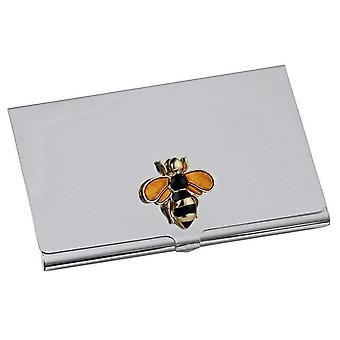 Orton West Bumble Bee Card Case - Silver