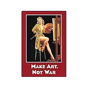 Kunst maken niet oorlog grappige Fridge Magnet