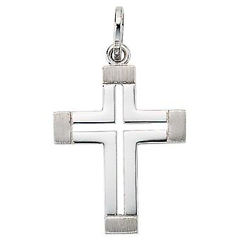 Pendant cross 585 white gold TERRA crucifix cross