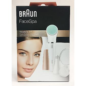 NEW Braun FaceSpa 3-in-1 Facial Epilator For Hair Removal And Cleansing Brush