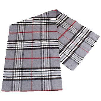 Fraas Checked Scarf - Mid Grey