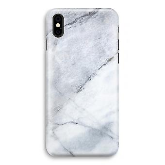 iPhone XS Full Print Case (Glossy) - Marble white