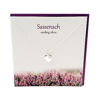 Sølv Studio Outlander inspireret Sassenach vedhæng kort