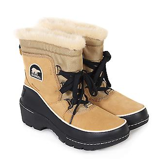 Sorel Women's Torino Waterproof Suede Lace Up Winter Boot Curry