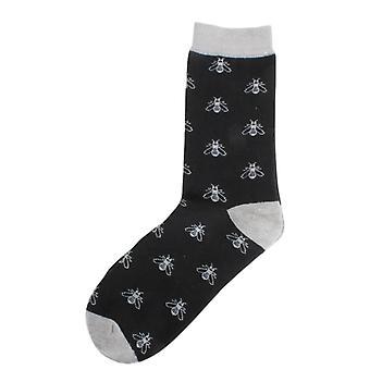 Дэвид ван Хаген пчела носки - черный/серый