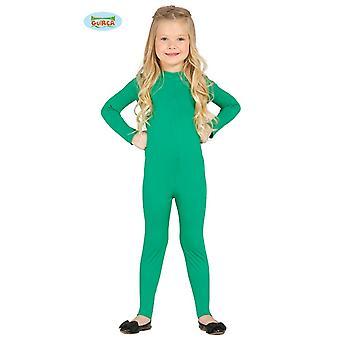 Guirca elastic green body suit for children