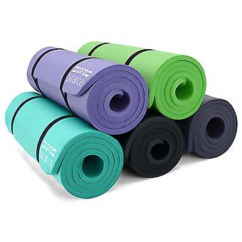 Thick NBR Foam Exercise Mat Gym Yoga Pilates High Density 15mm Carry Strap