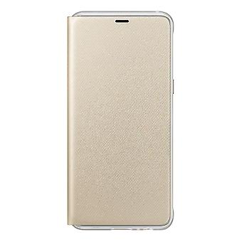 Samsung Flip Wallet Cover for GALAXY A8 (2018)-Gold