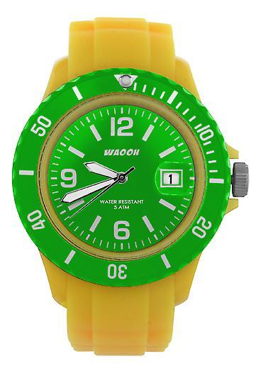 Waooh - Watch Dial & Bezel MONACO38 Yellow Color