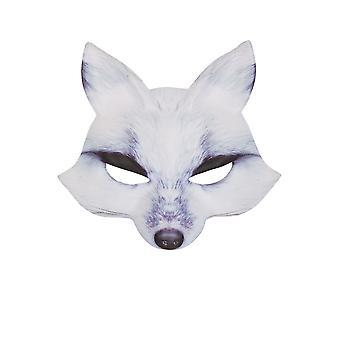 Máscara de lobo EVA blanco