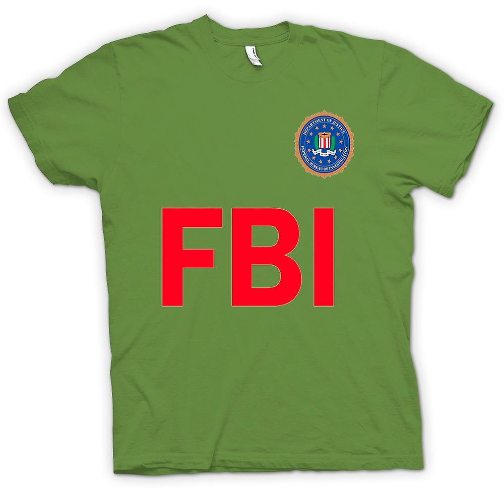 Mens T-shirt - FBI USA - politie