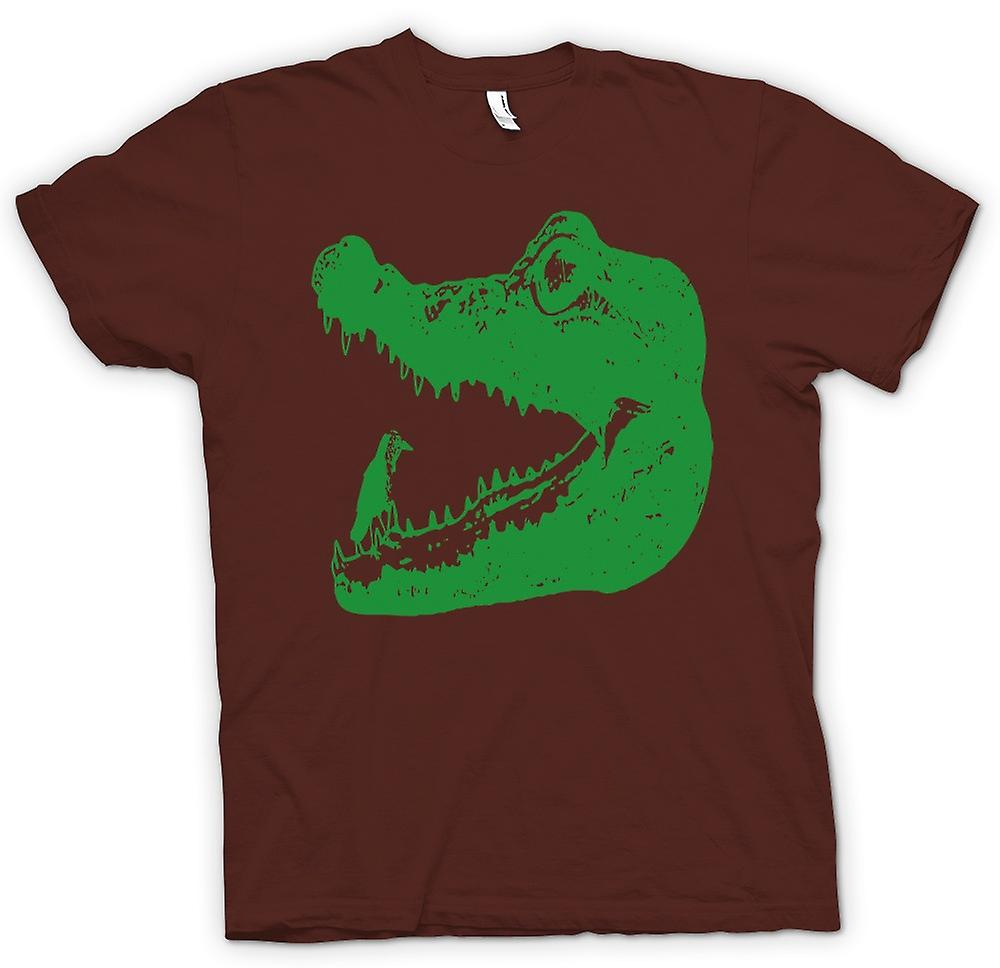 Mens T-shirt - Krokodil Aligator - Cool Cool Grafikdesign