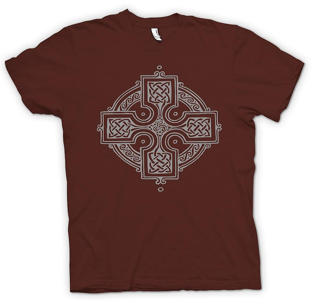 Mens T-shirt - Celtic Cross 2 - Tattoo Design