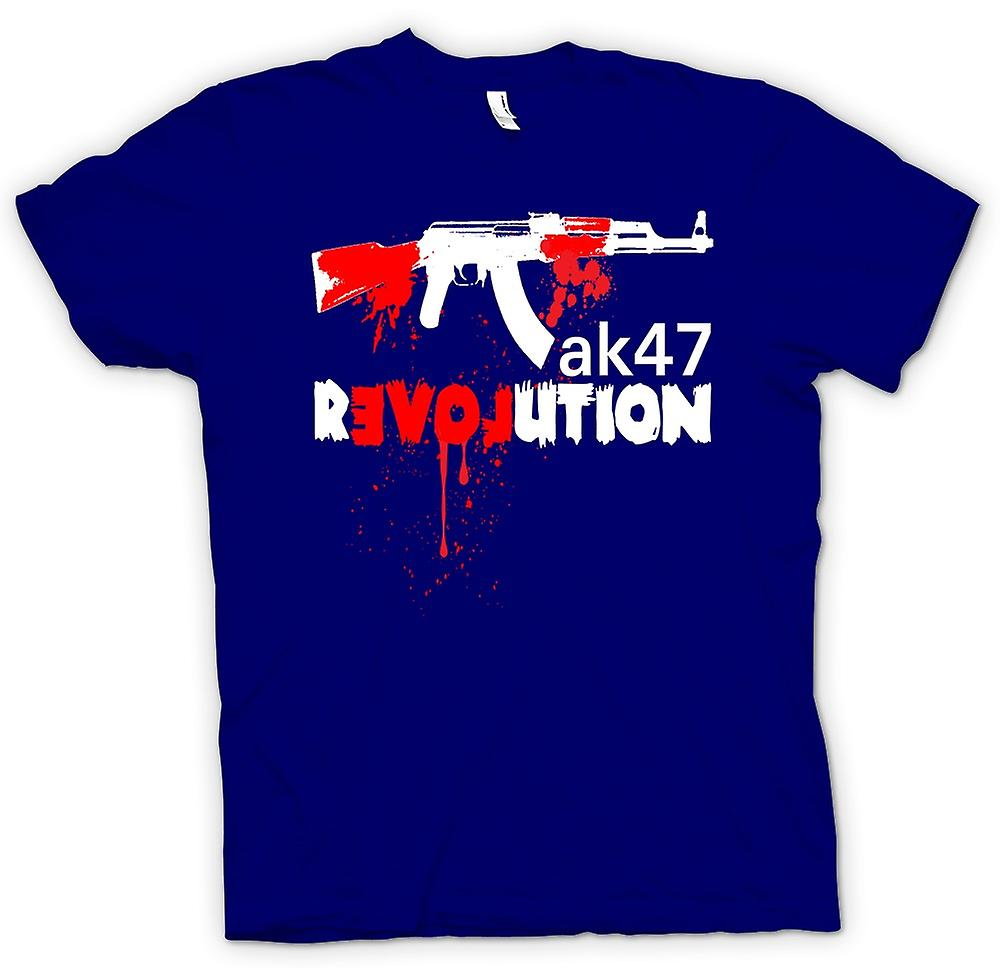 Herr T-shirt-AK47 Revolution