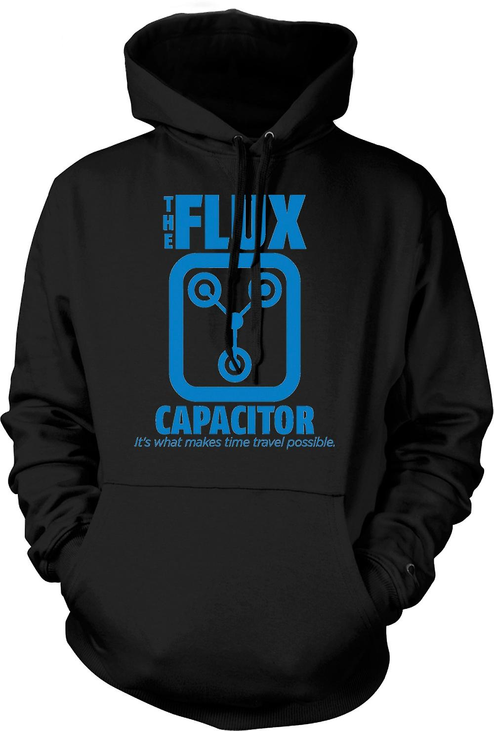 Mens Hoodie - The Flux Capacitor - Quote