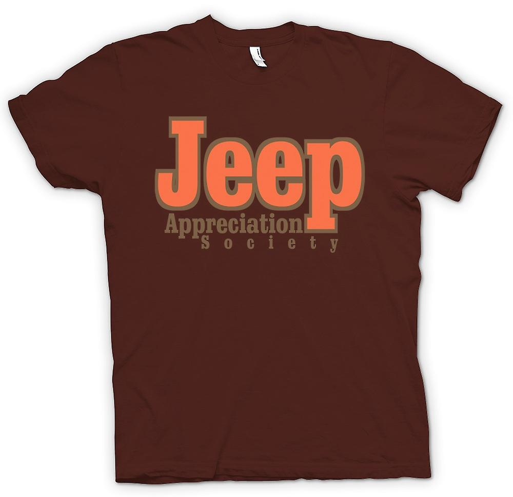 Hommes T-shirt - Jeep Appreciation Society