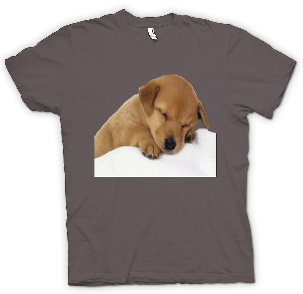 Womens T-shirt - Cute Sleeping Puppy Dog