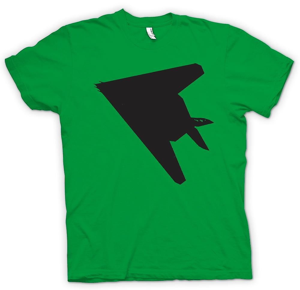 Heren T-shirt - Lockheed F-117 Nighthawk - Stealth Fighter onderzijde