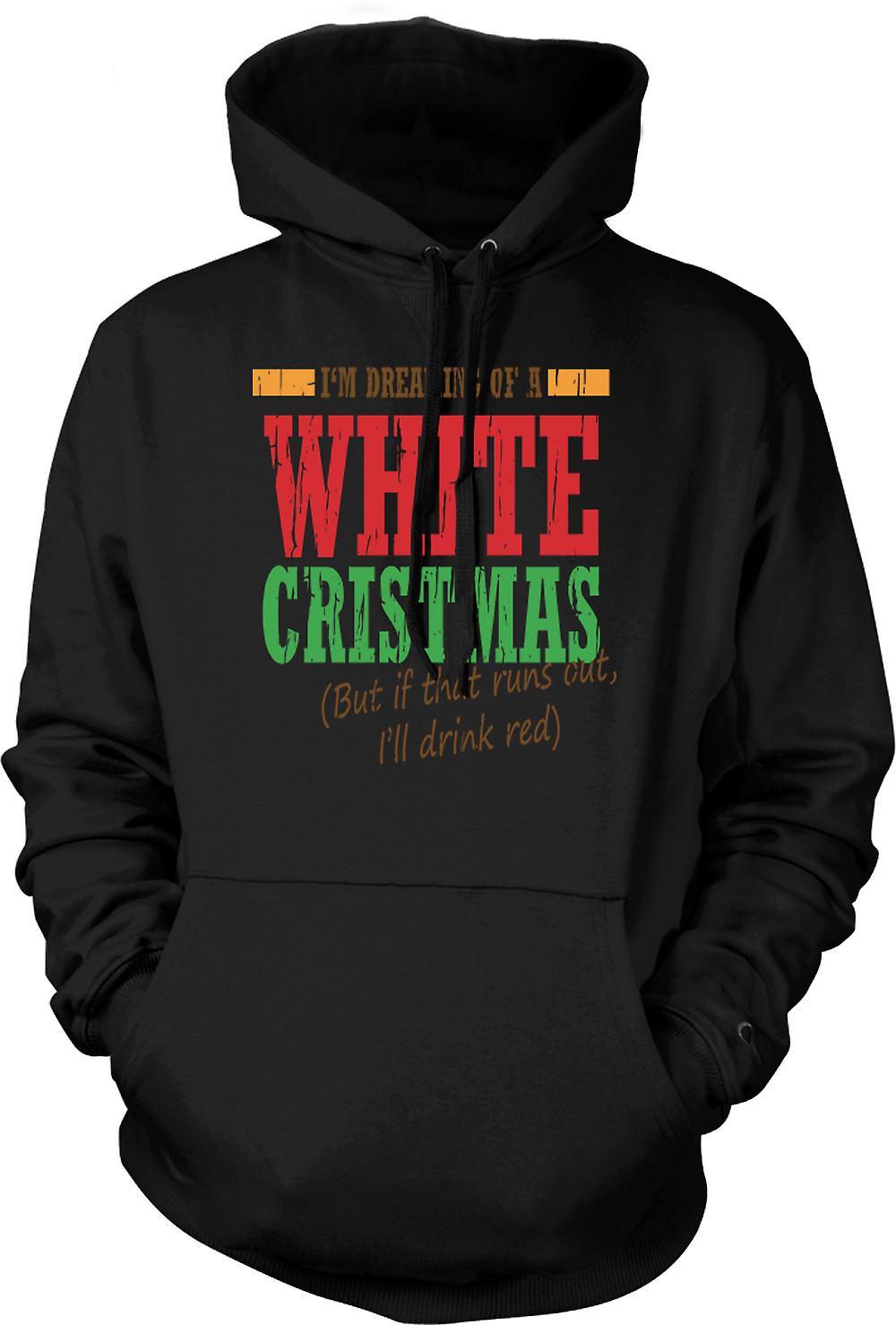 Para hombre con capucha - Im soñando con una blanca Navidad - la Navidad divertida
