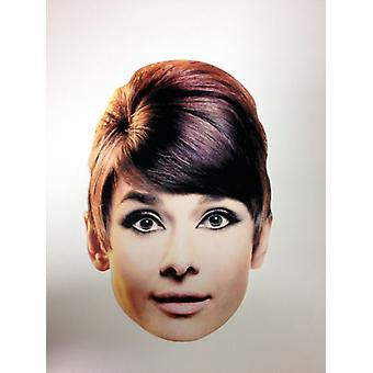 Audrey Hepburn Card Face Mask