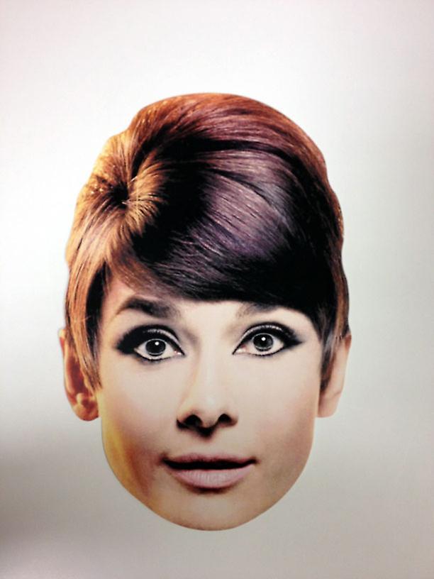 Audrey Hepburn tarjeta Mascarilla