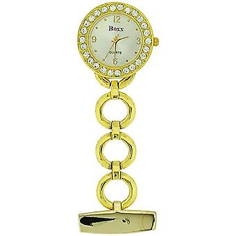 Boxx Glamour Gold Tone Round Open Link Professional Fob Watch BOXX10