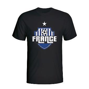 Francia paese Logo t-shirt (nero) - bambini