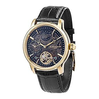 Thomas Earnhshaw Longitude Shadow ES-8063-05 wrist watch with black skeleton dial and black leather band