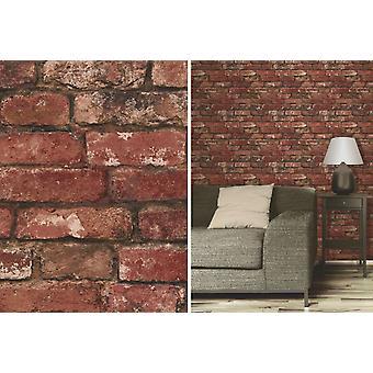 Drobne dekoracje z czerwonej cegły rustykalne efekt funkcji tapeta