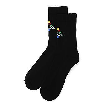 Marcelo Burlon Black Cotton Socks
