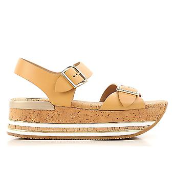 Hogan Beige Leather Sandals
