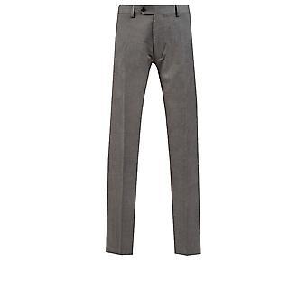 Dobell Mens Light Grey Suit Trousers Slim Fit Travel/Performance