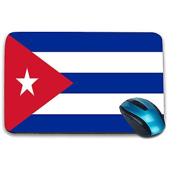 i-Tronixs - Cuba Flag Printed Design Non-Slip Rectangular Mouse Mat for Office / Home / Gaming - 0044