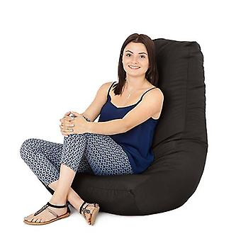 Black Water Resistant Outdoor Gaming Bean Bag Highback Lounger Chair