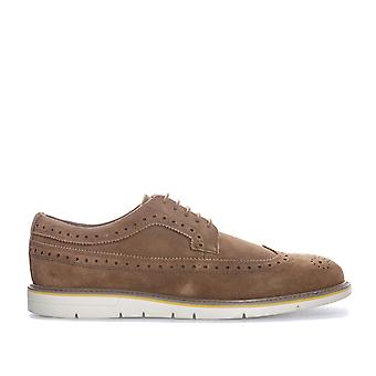 Mens Geox Uvet BROGUE zapatos en Brown