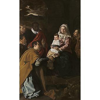 The adoracion of the Kings Magicians,Diego Velazquez,60x37cm