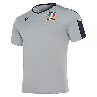 2019-2020 Italië macron Rugby poly Trainingshirt (grijs)