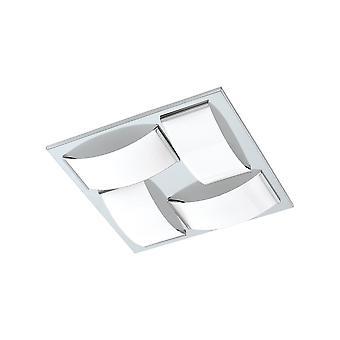 Eglo-Wasao 1 luz de teto brilhante do banheiro do cromo com vidro EG94884 do Opal