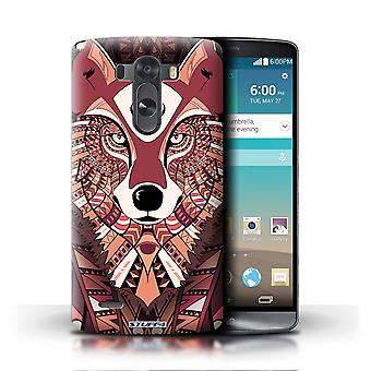 STUFF4 Phone Case / Cover for LG G3/D850/D855 / Wolf-Red Design / Aztec Animal Design Collection