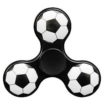 Hånd spinner 3D fodbold i sort