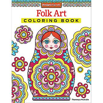 Design Originals-Folk Art Coloring Book DO-5494