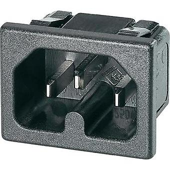Hot wire connector C16 ATT.LOV.SERIES_POWERCONNECTORS 42R Plug, vertical mount Total number of pins: 2 10 A Black K & B