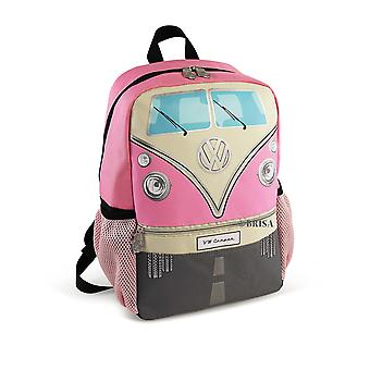 Official VW Camper Van Kids School Backpack Bag - Pink