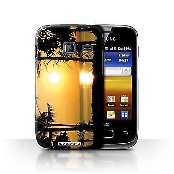 STUFF4 Case/Cover for Samsung Galaxy Y Duos/S6102/Tropical Trees/Sunset Scenery