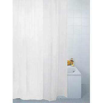 Vanilla Plain Polyester Shower Curtain 180 x 180cm